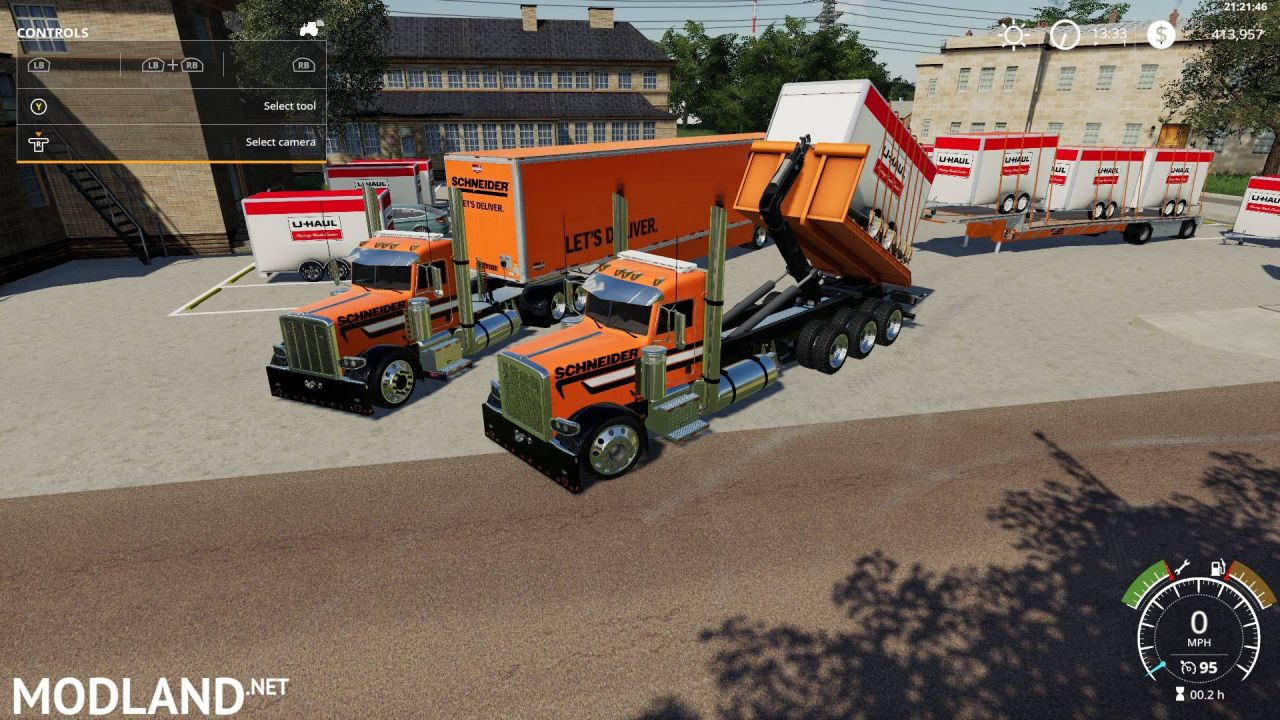 Peterbilt triaxle hooklift streetreaper edit