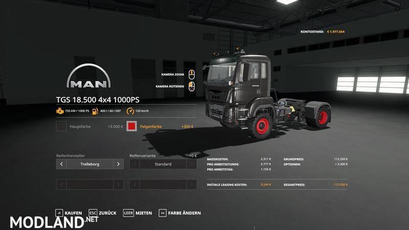 MAN TGS18500 - 1000hp