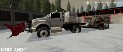 Ford F750 Flatbed Plow Truck v 1.0, 2 photo