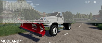 Ford F750 Flatbed Plow Truck v 1.0, 3 photo