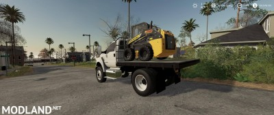 Ford F750 Flatbed Plow Truck v 1.0, 4 photo