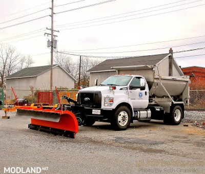 Ford F750 Flatbed Plow Truck v 1.0, 5 photo