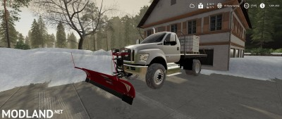 Ford F750 Flatbed Plow Truck v 1.0, 1 photo
