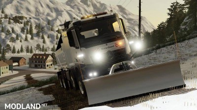 Mercedes Arocs winter service + snowfall v 1.0, 10 photo