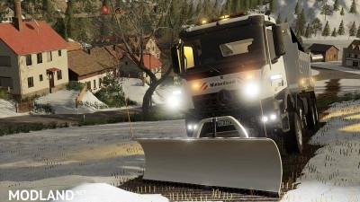 Mercedes Arocs winter service + snowfall v 1.0, 8 photo