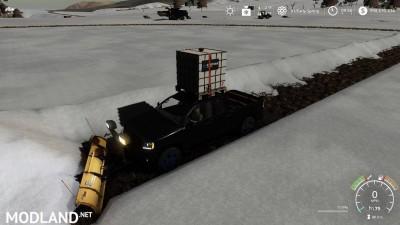 Pickup 2014 snow plow v 1.0, 7 photo
