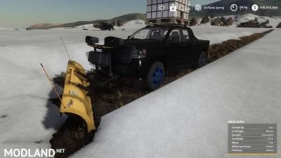 Pickup 2014 snow plow v 1.0, 1 photo