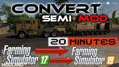 Semi truck template for modders v 1.0