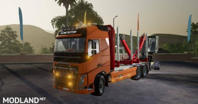 Volvo FH16 750 wood v1.7, 4 photo