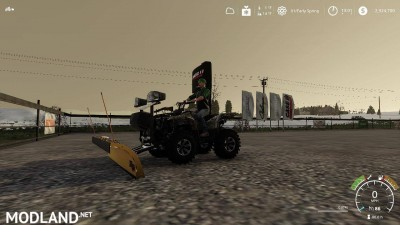 Yamaha Grizzly snow plow 1.0, 10 photo
