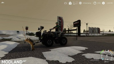 Yamaha Grizzly snow plow 1.0, 11 photo