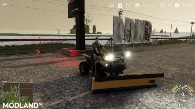 Yamaha Grizzly snow plow 1.0, 6 photo