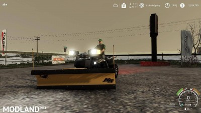 Yamaha Grizzly snow plow 1.0, 7 photo