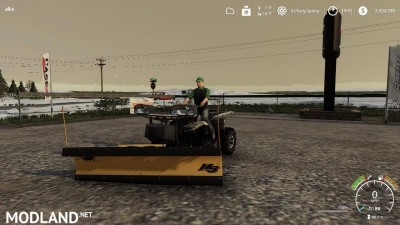 Yamaha Grizzly snow plow 1.0, 8 photo