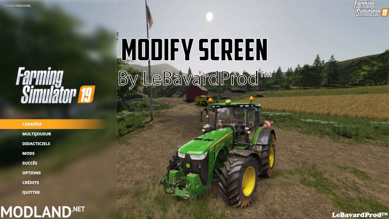 Modify Screen