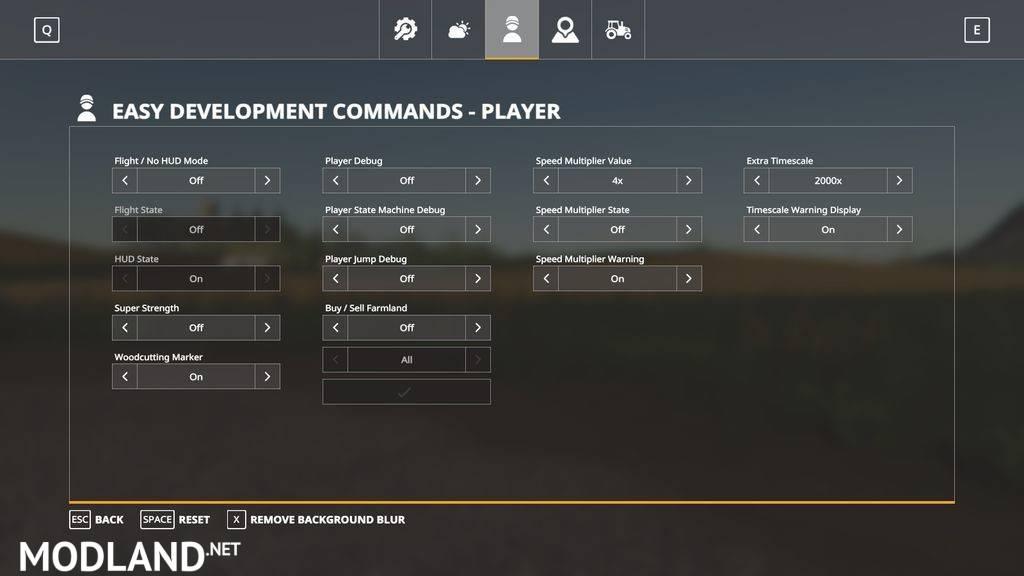 Easy Development Controls