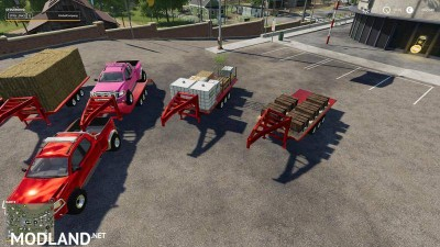 2014 Pickup with semi-trailer and autoload v 1.8, 3 photo