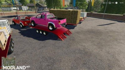 2014 Pickup with semi-trailer and autoload v 1.8, 4 photo