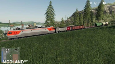 Electric locomotive and railways cars v 1.0, 1 photo