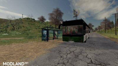 Man Lions City Bus With Stop v 1.0