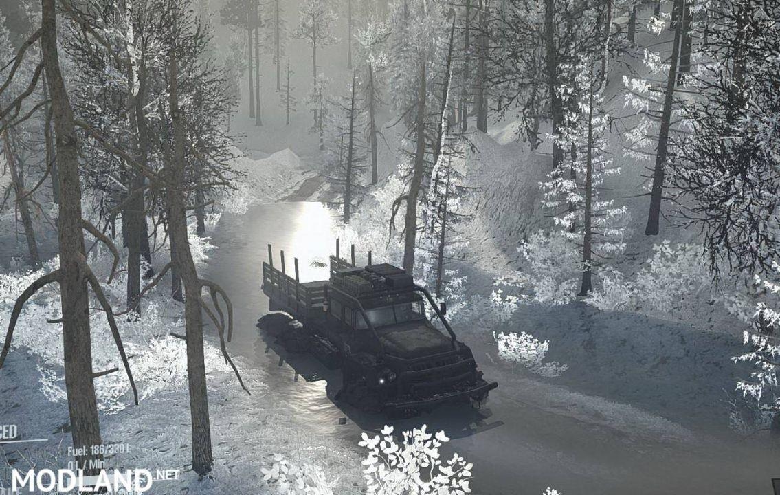 """Map """"Dark Forest Snow"""""""
