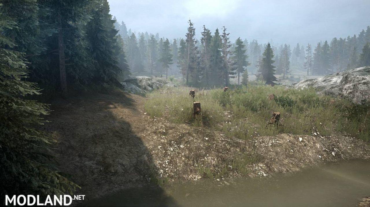 """The map """"Smeds Diablo Trails"""" version 08.01.18 for"""