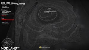 map level touring gunung merapi 25x25, 1 photo
