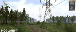 "Map ""Cutting down on power lines in Bear Forest"", 6 photo"