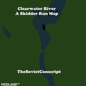 Clearwater river A skidder run map, 2 photo