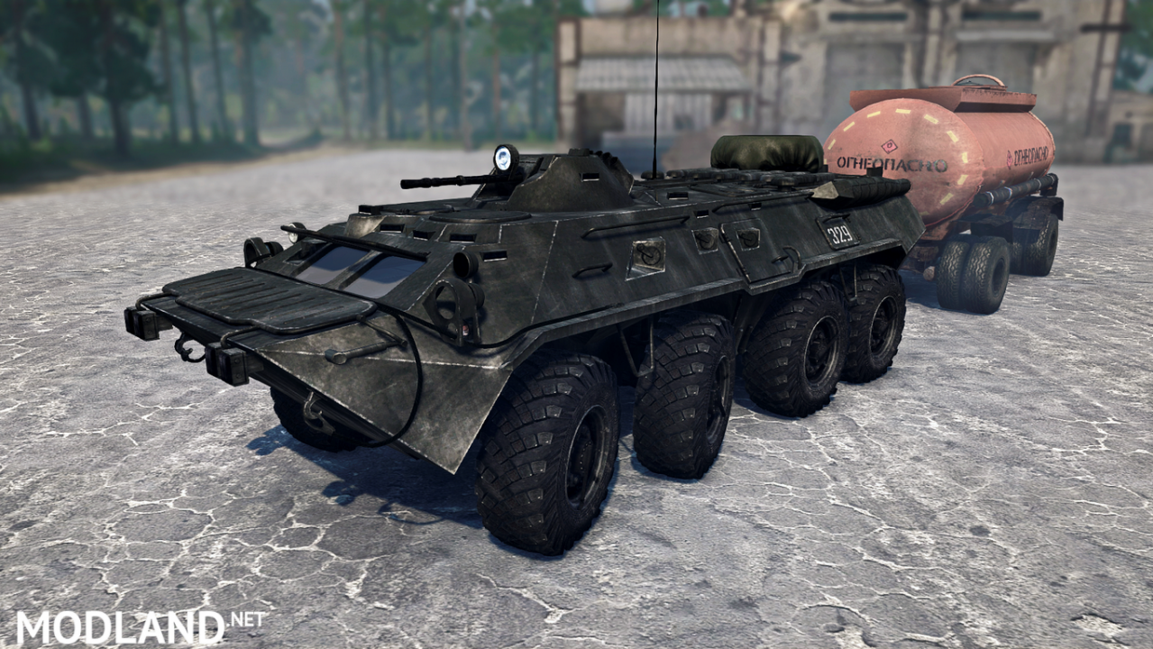BTR-80 version 13.06.18 for Spintires: MudRunner (v18 / 05/21)