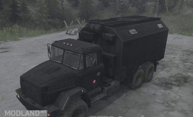 KrAZ-6322 Black Truck