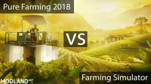 Pure Farming vs. Farming Simulator