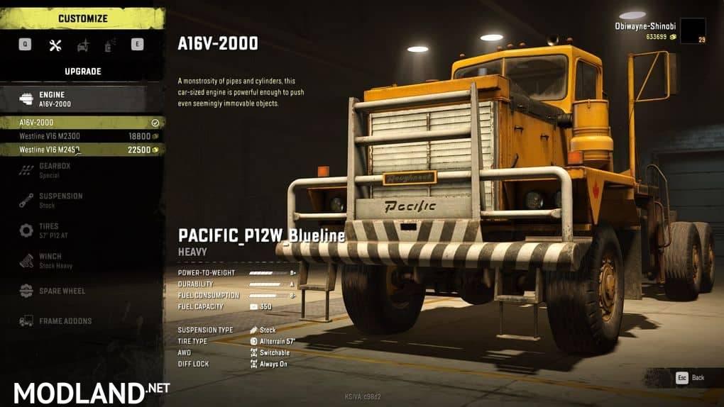Pacific P12w Blueline 1.0.0 Mod