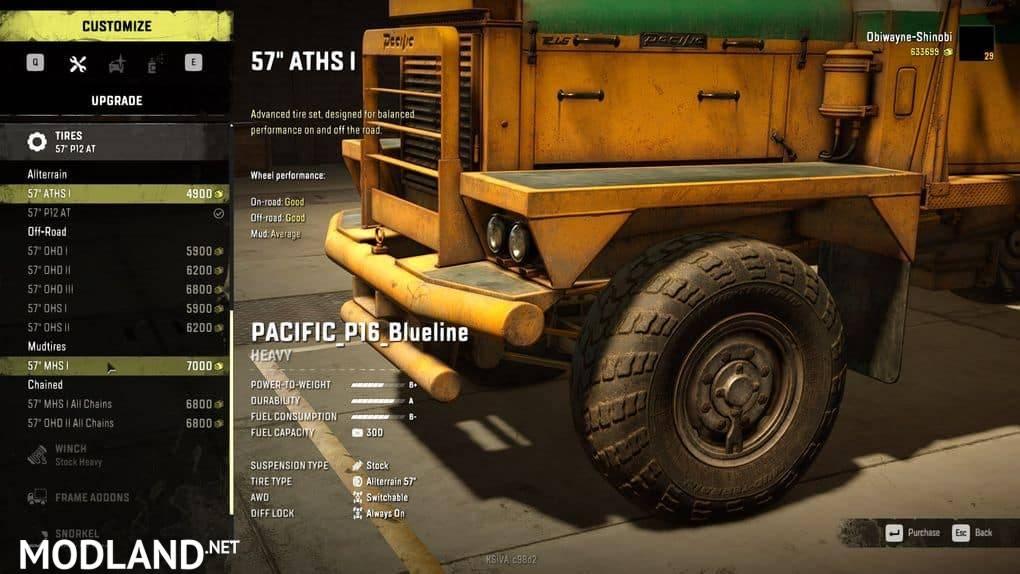Pacific P16 Blueline 1.0.0 Mod