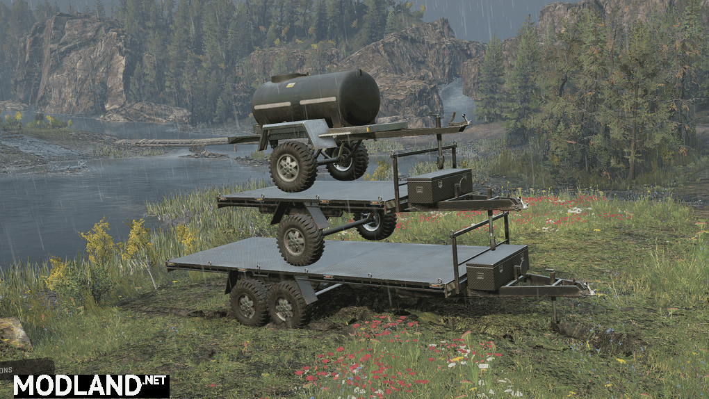 Realistic Weight Off-Road Trailers 1.0.0 Mod