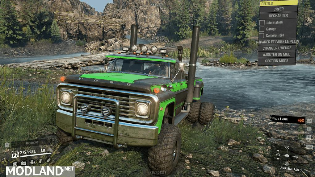 "Ford F750 SE ""BullFrog"" 1.0.1 Mod"