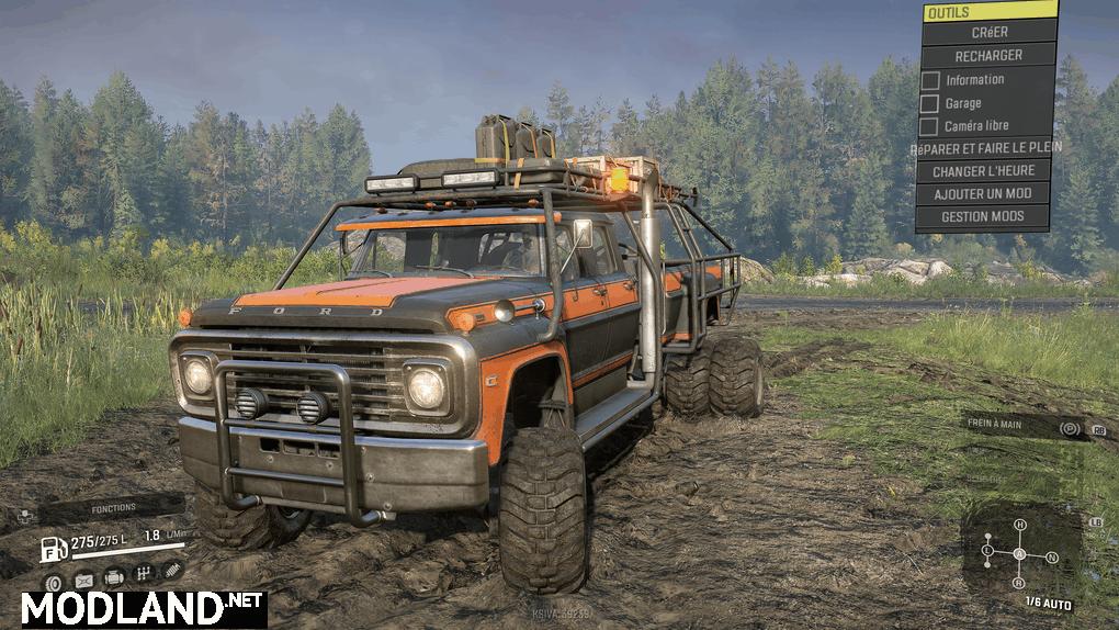 "Ford F750 SE ""BullFrog"" 1.0.2 Mod"