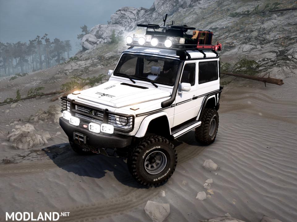 """Mercedes-Benz G500 """"Tourist version"""" for Spintires: Mudrunner"""