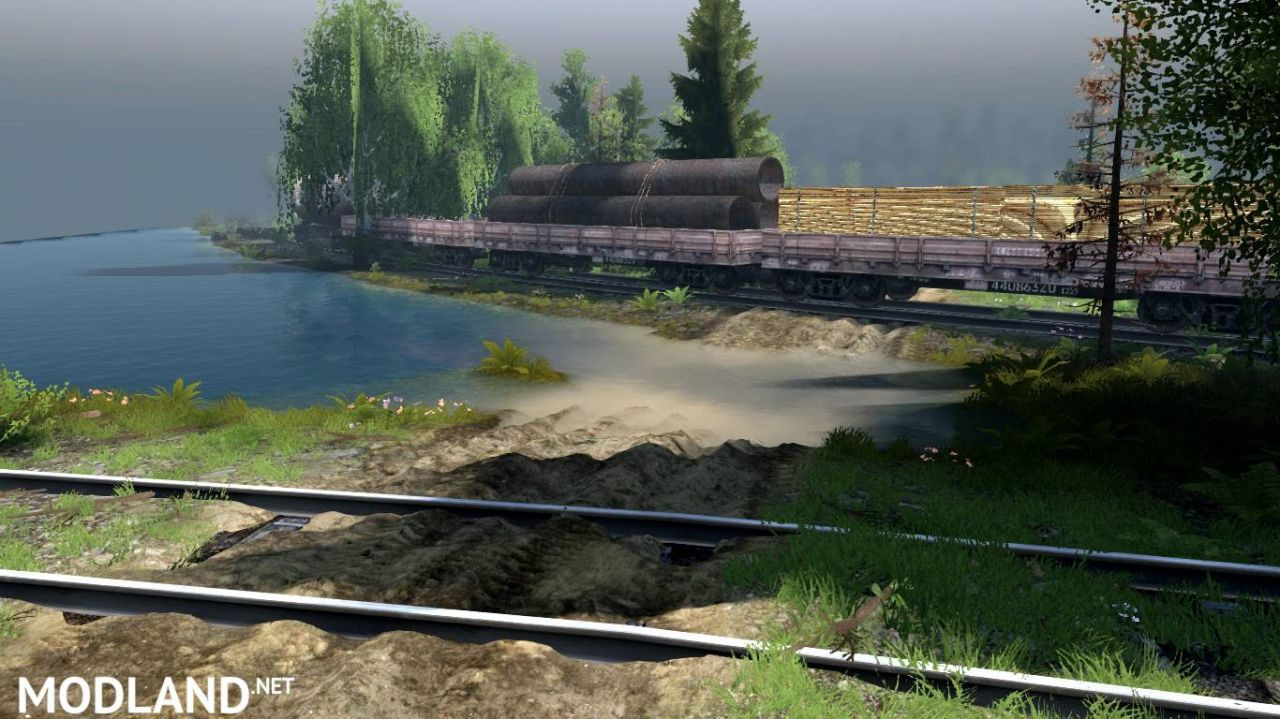 """Map """"Unpleasant business trip"""" version 1.0 for SpinTires (v03.03.16)"""