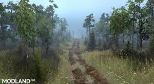 "Map ""The Forest Roads"" , 3 photo"