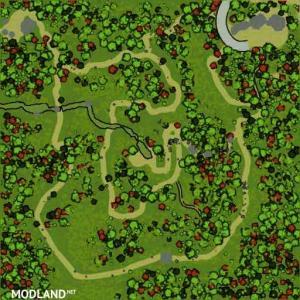 "The map ""Hillside Trails"" version 08.05.18 for (v18 / 03/06), 1 photo"