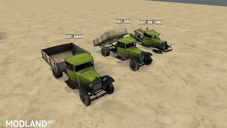 "Objects for Spintires Editor ""GAZ-AA pack"""