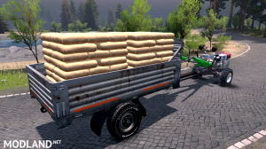 Four wheel version of walking tractor