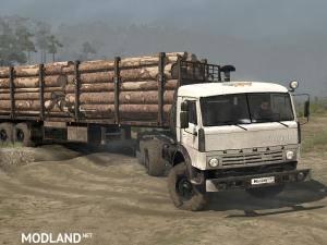 Kamaz-43114 Truck v12.11.17 - Spintires: MudRunner