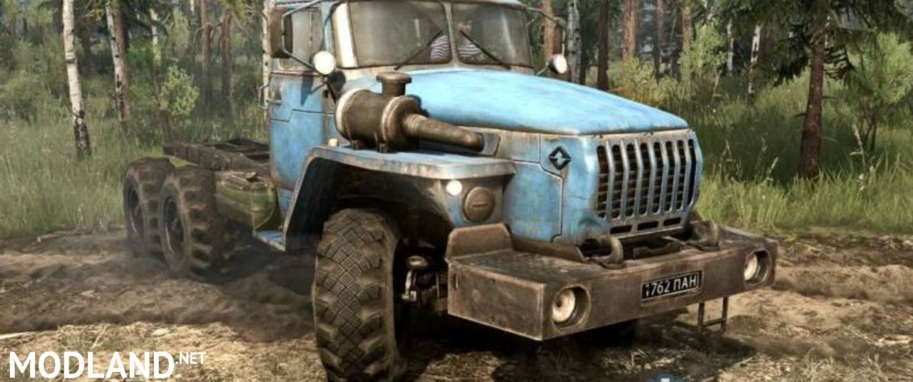 Original model Ural-432010 blue - Spintires: MudRunner