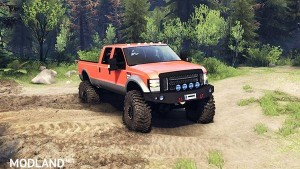 Ford F350 Super Duty 6.8 2008 v0.1.0 orange