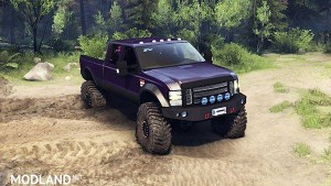 Ford F350 Super Duty 6.8 2008 v 0.1.0 purple