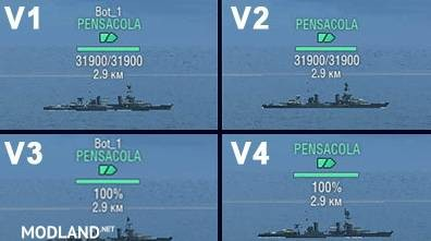 Informative markers 4 version WoWs [0.8.1]
